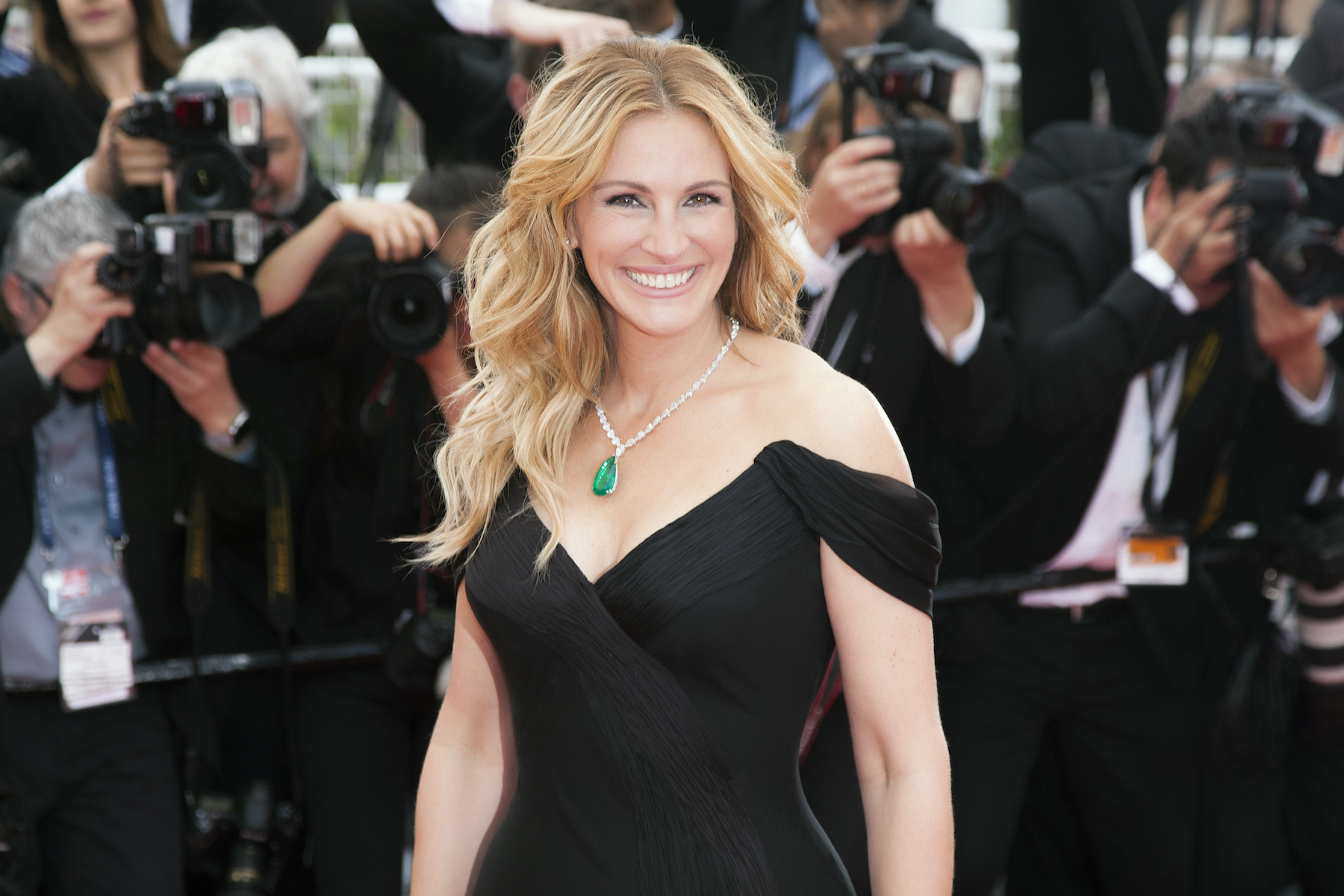 Julia Roberts Shows Off New Haircut, blonde before image