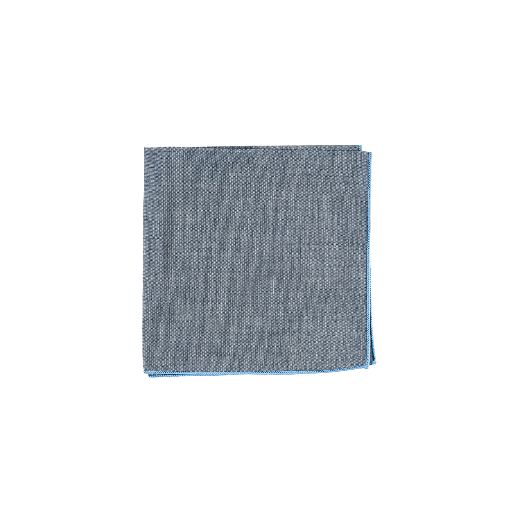 Denim Chambray Pocket Square