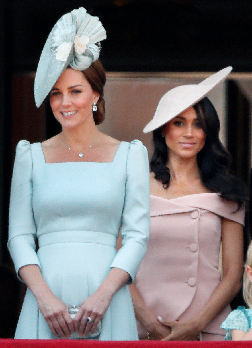 02604c45e Why Meghan Markle Stood Behind Kate Middleton for Her Balcony Debut:  'There's a Pecking