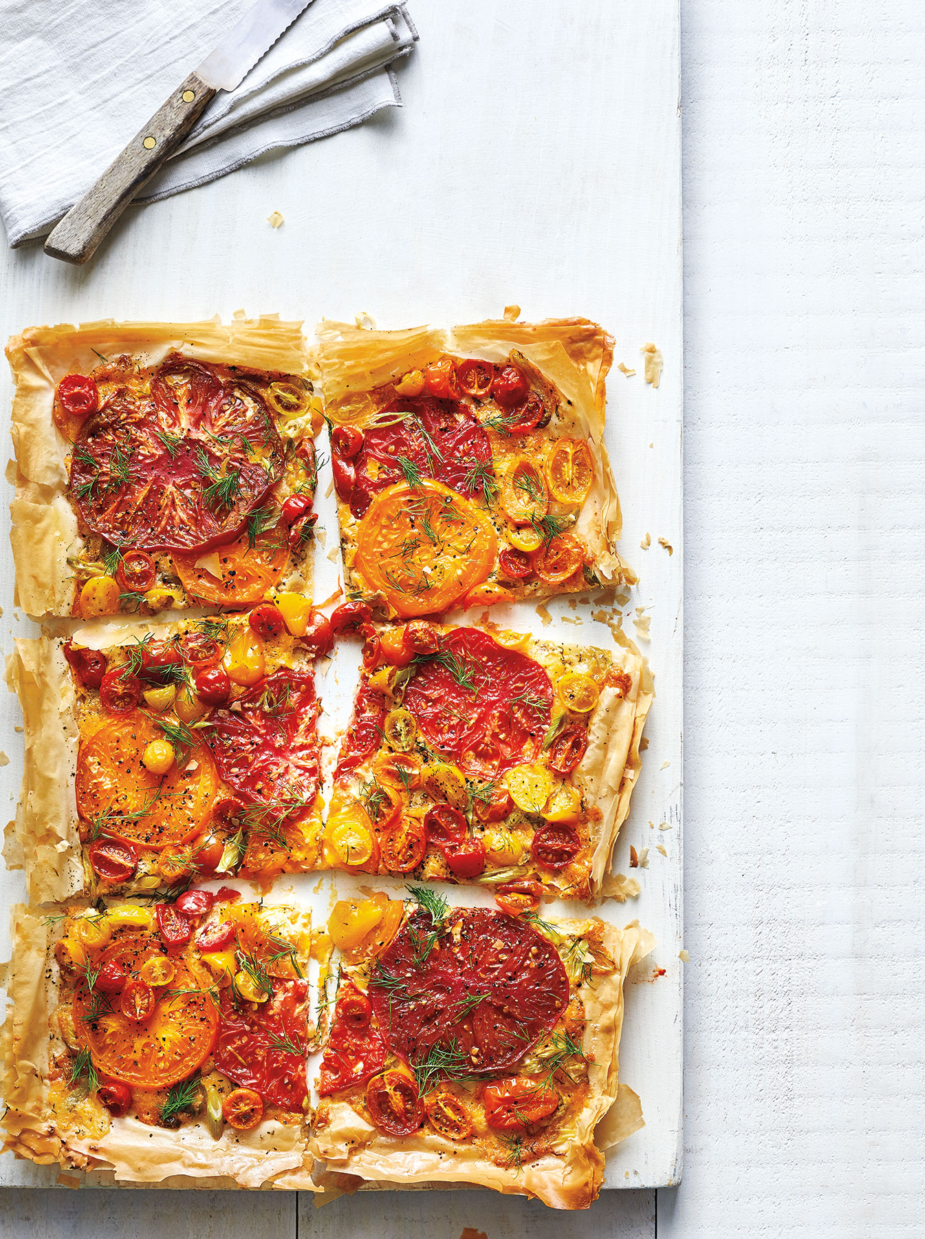 Cheesy Heirloom Tomato Tart