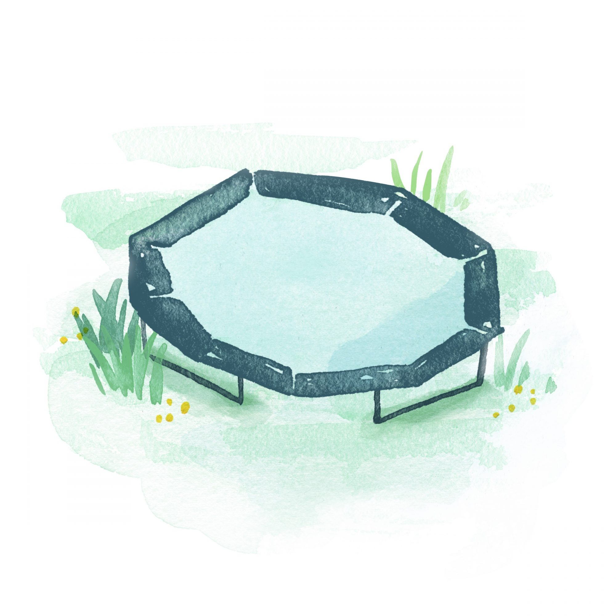 Ode to Trampoline Illustration