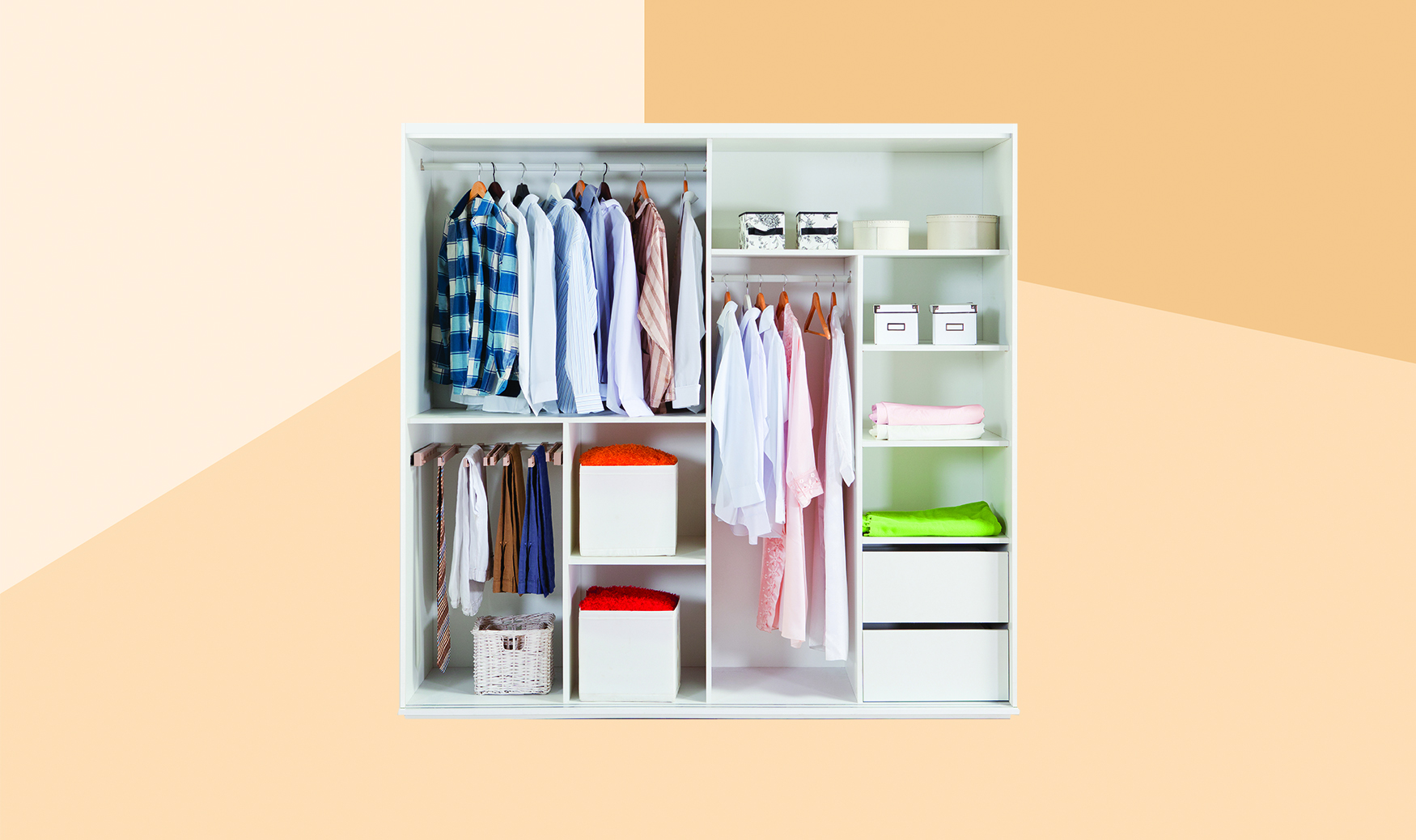 How to Organize a Closet in 30 Minutes Flat, organized bedroom closet