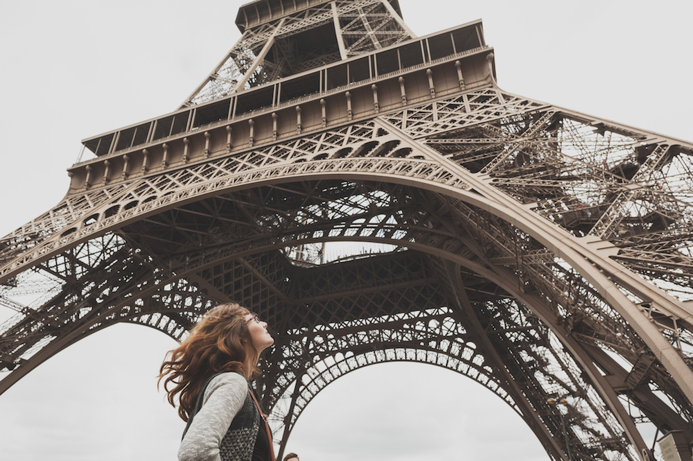 A Woman Traveling to Paris, France
