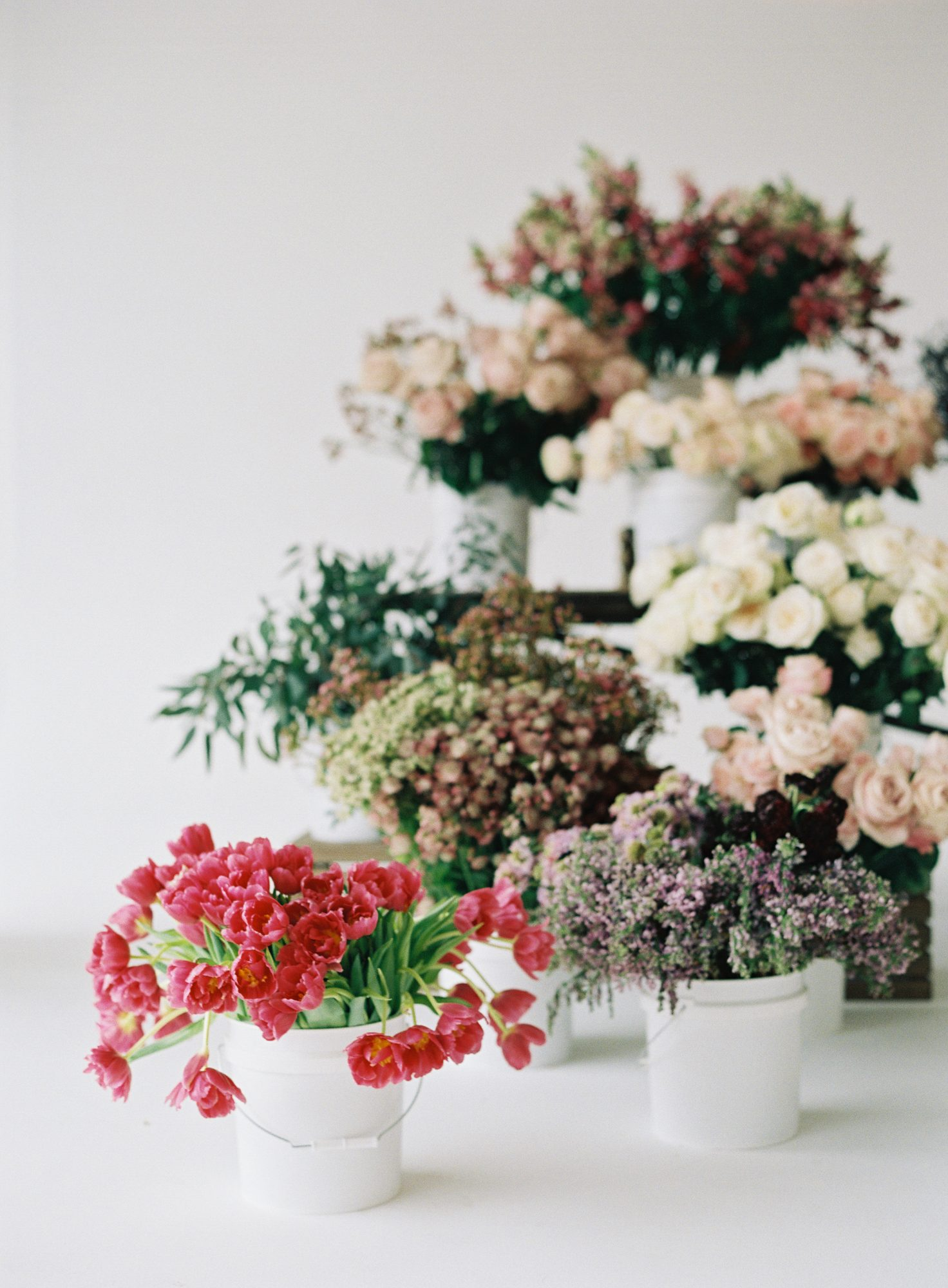 Decorate With Buckets of Flowers