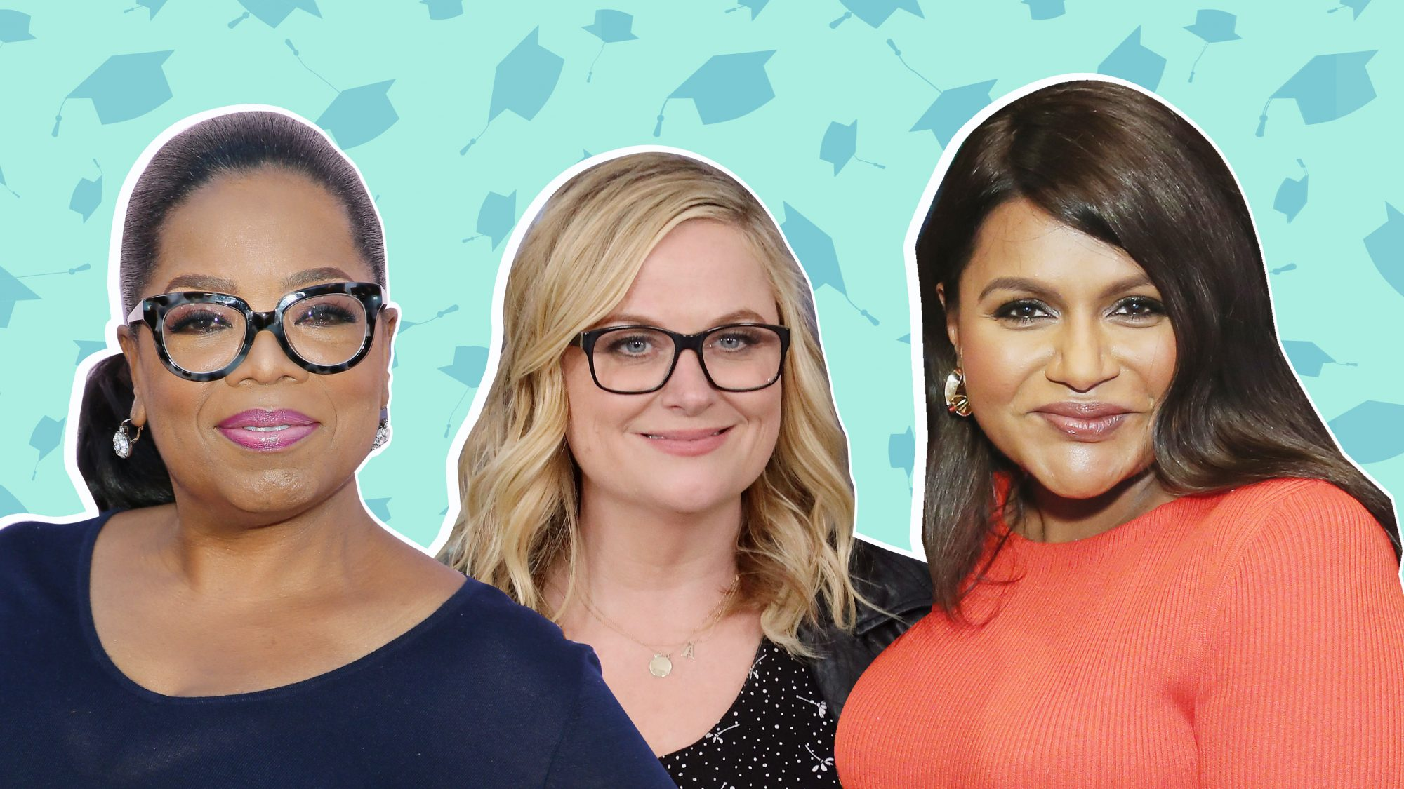 Oprah Winfrey, Amy Poehler, and Mindy Kaling encouraging graduation speech quotes