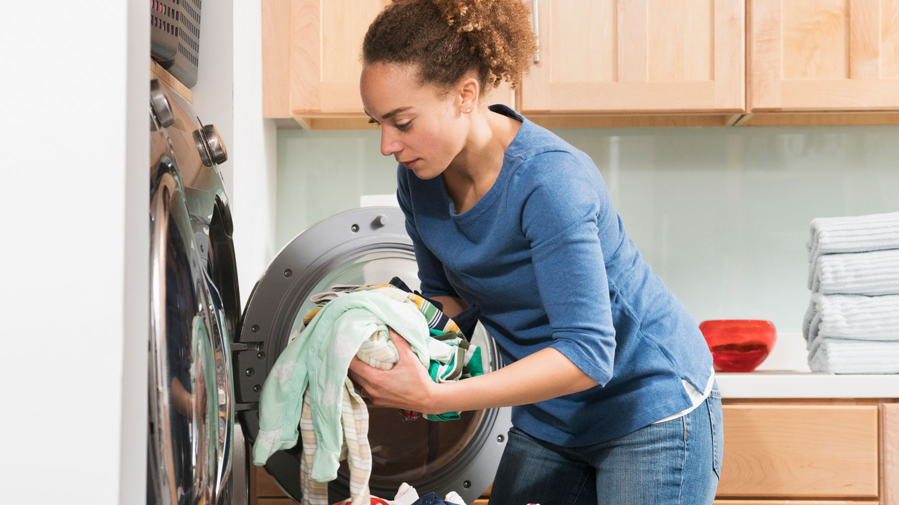 Laundry Hack - Woman doing laundry at home