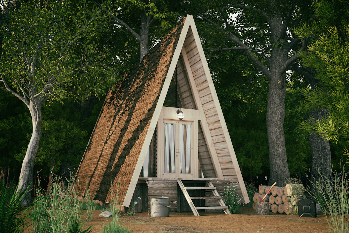 Small Space Organizing Ideas from Tiny Home, tiny A-frame house