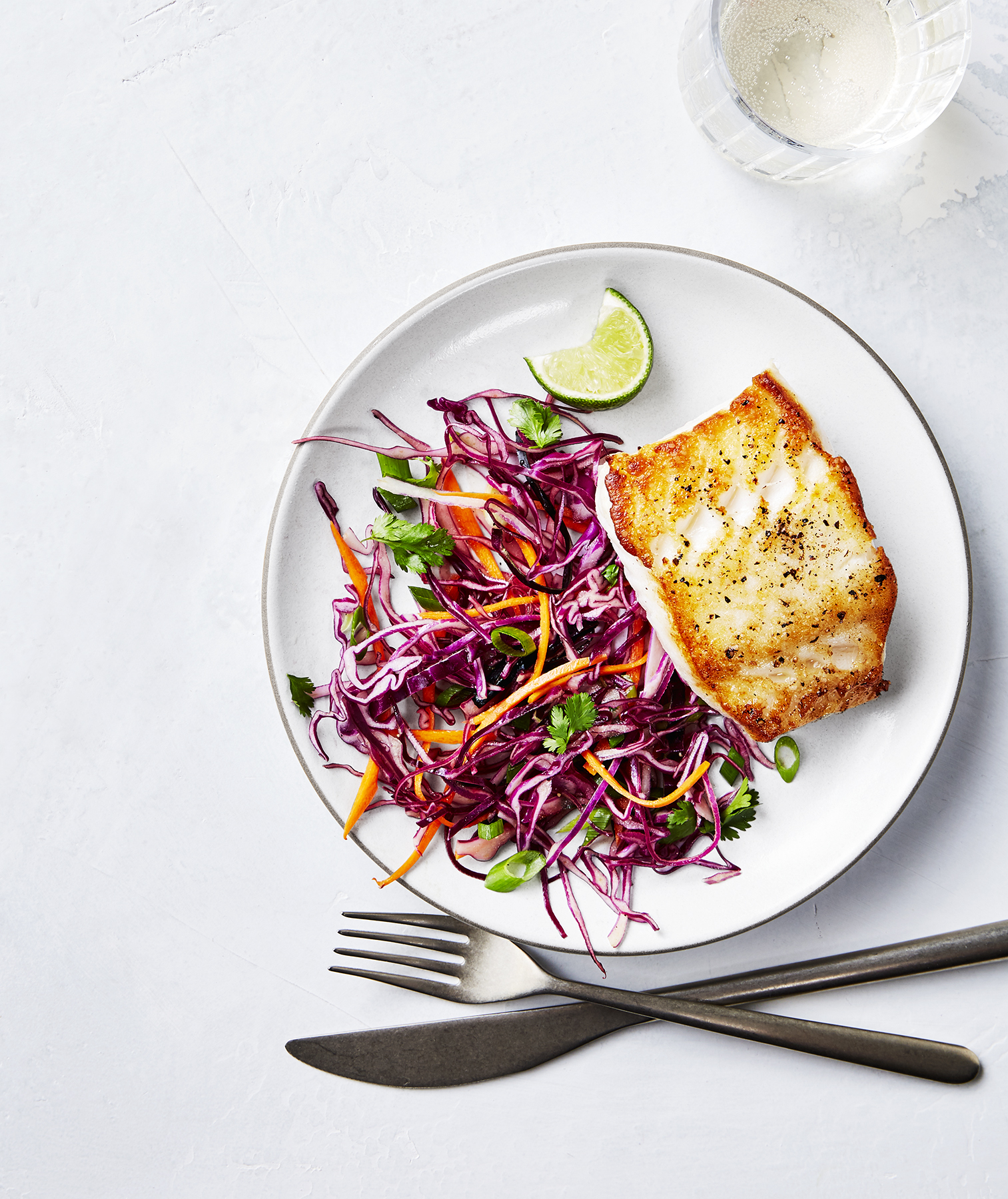 Lime-Butter Cod With Zesty Slaw