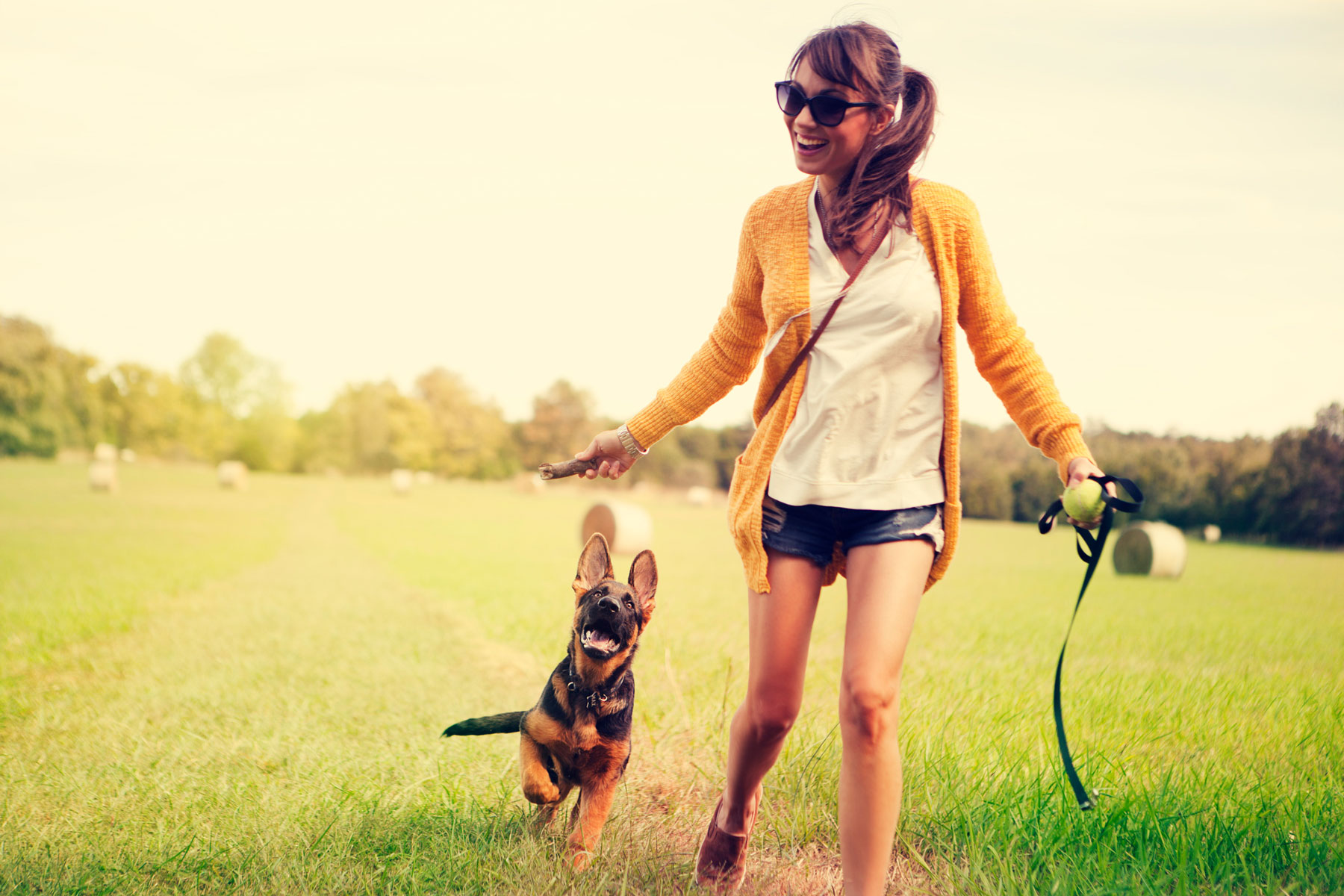 How much does a dog cost - woman playing with dog