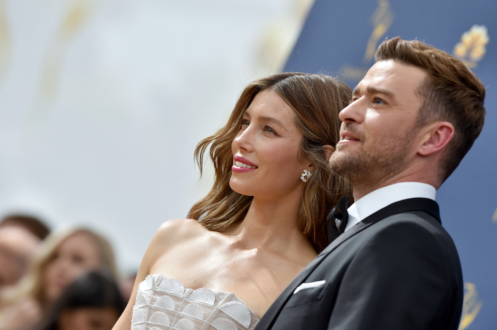 Jessica Biel With Husband Justin Timberlake at the Emmy Awards 2018