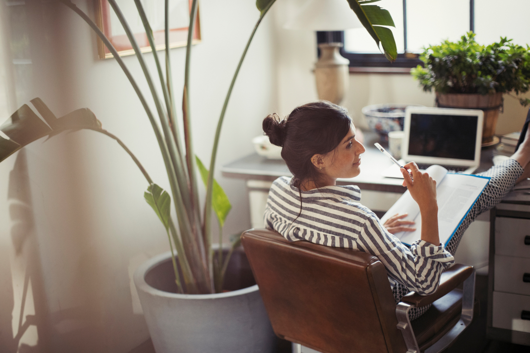 Top-paying work from home jobs - business woman at home