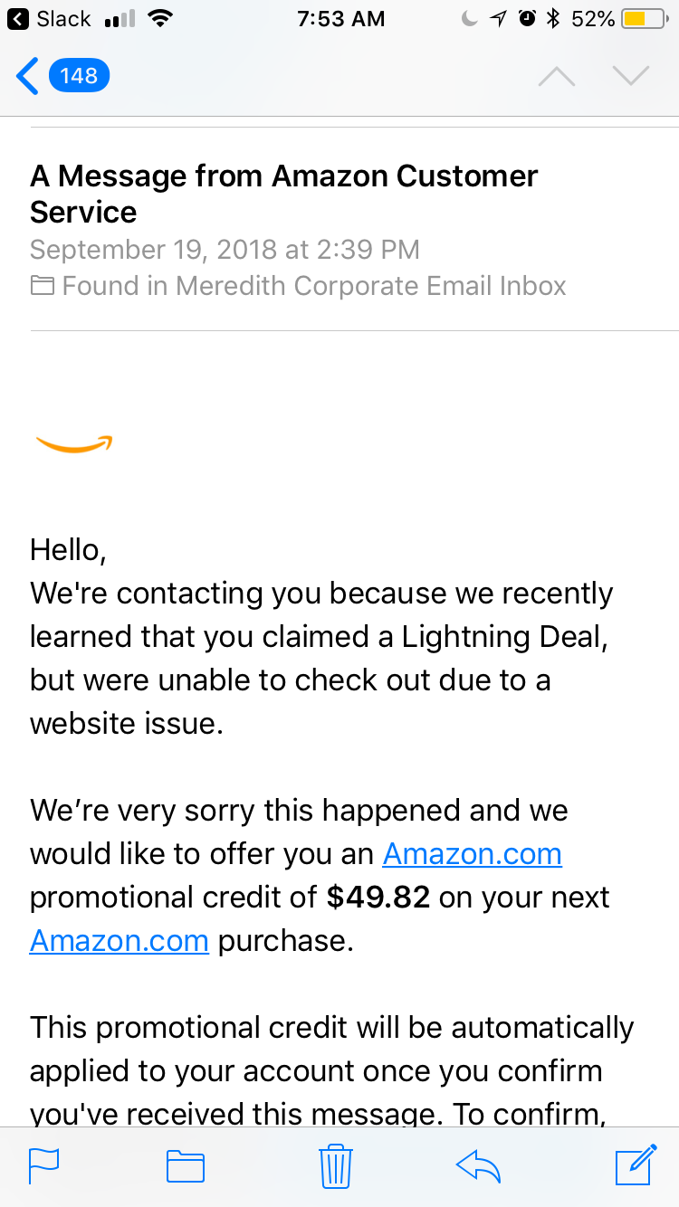 Beware of This Fake Amazon Email Offering You a Promotional