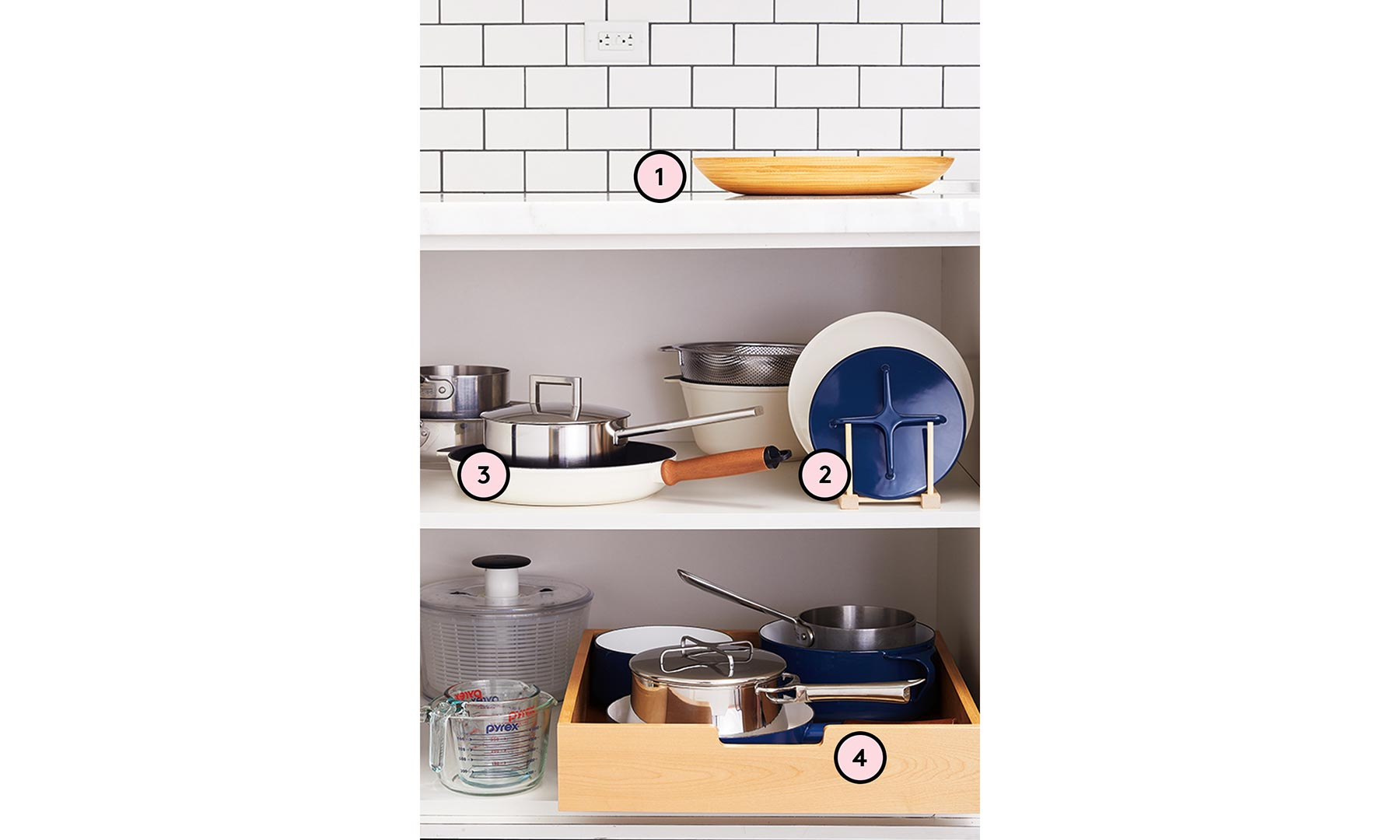 How to Organize Pots and Pans Numbered Graphic