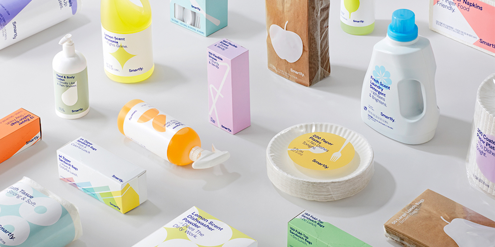 Cute packaging for home products, Target Smartly brand