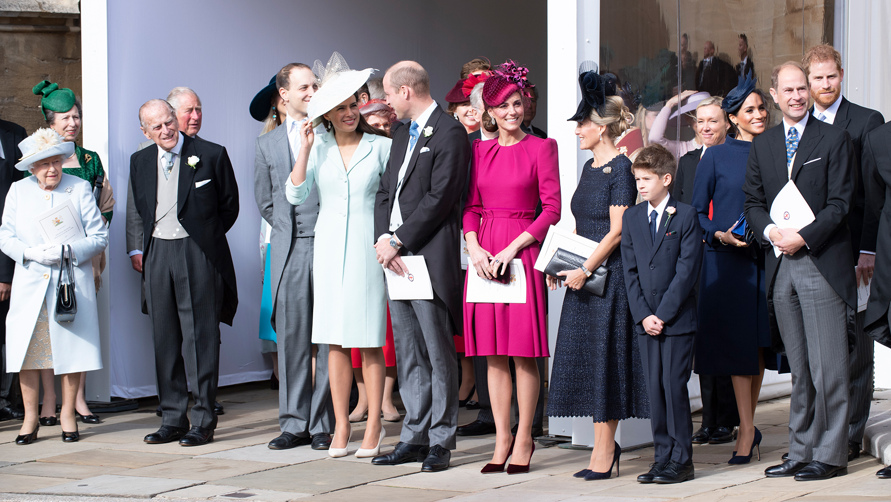 Kate Middleton and Royal Family attend the wedding of Princess Eugenie