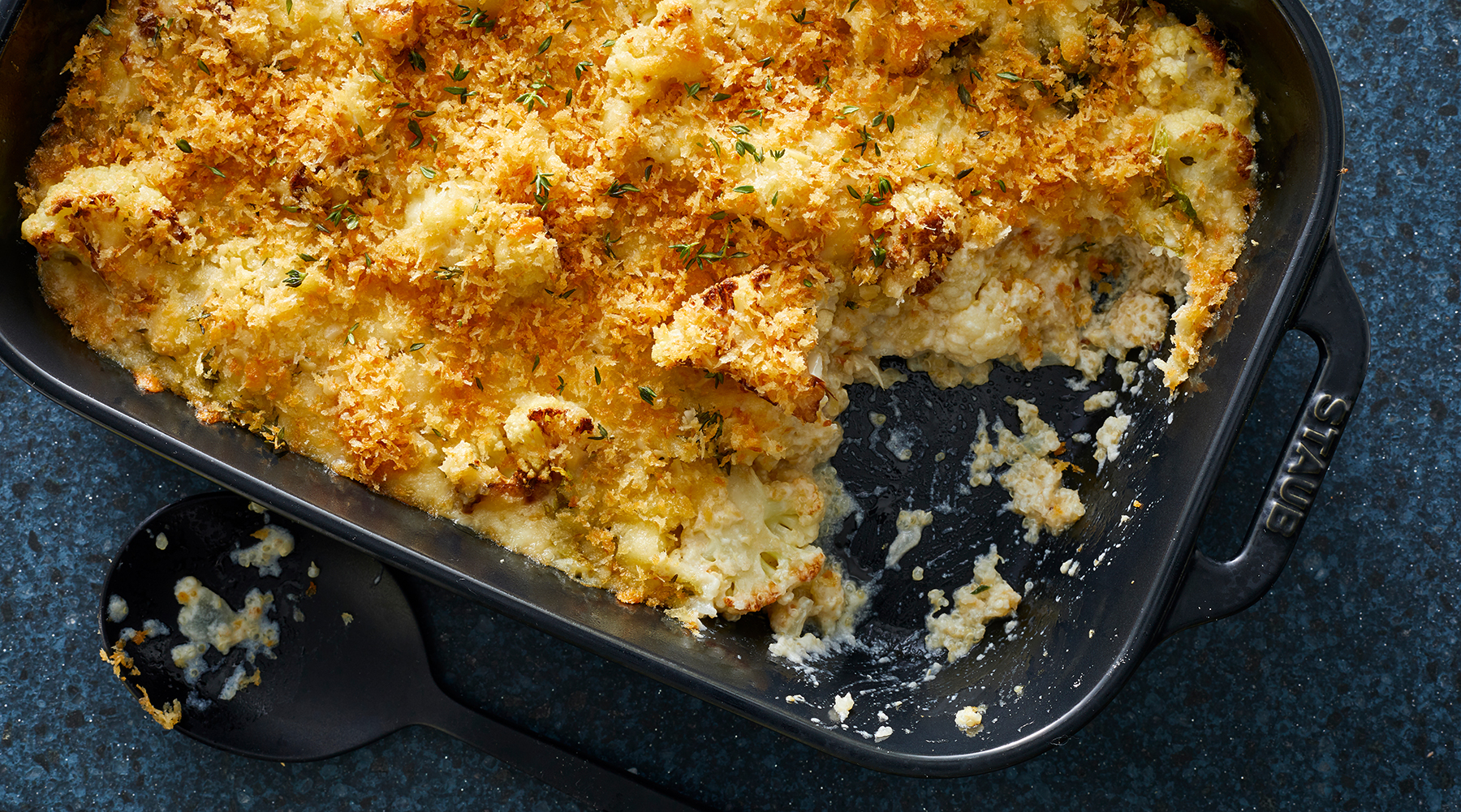 Cheesy Baked Quinoa and Cauliflower