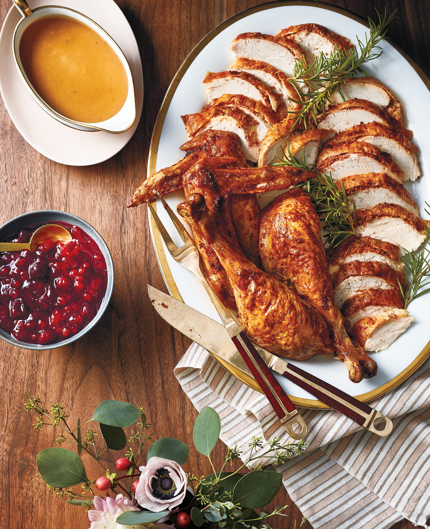 The Best Thanksgiving Turkey Recipe: Pepperoni Butter Turkey and Gravy