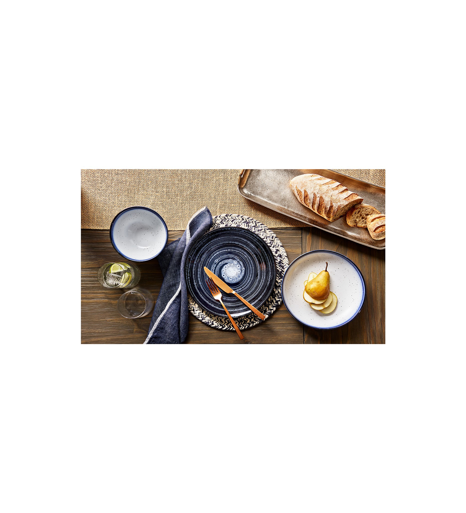 Lucky Brand Tabletop - Full Blue Collection