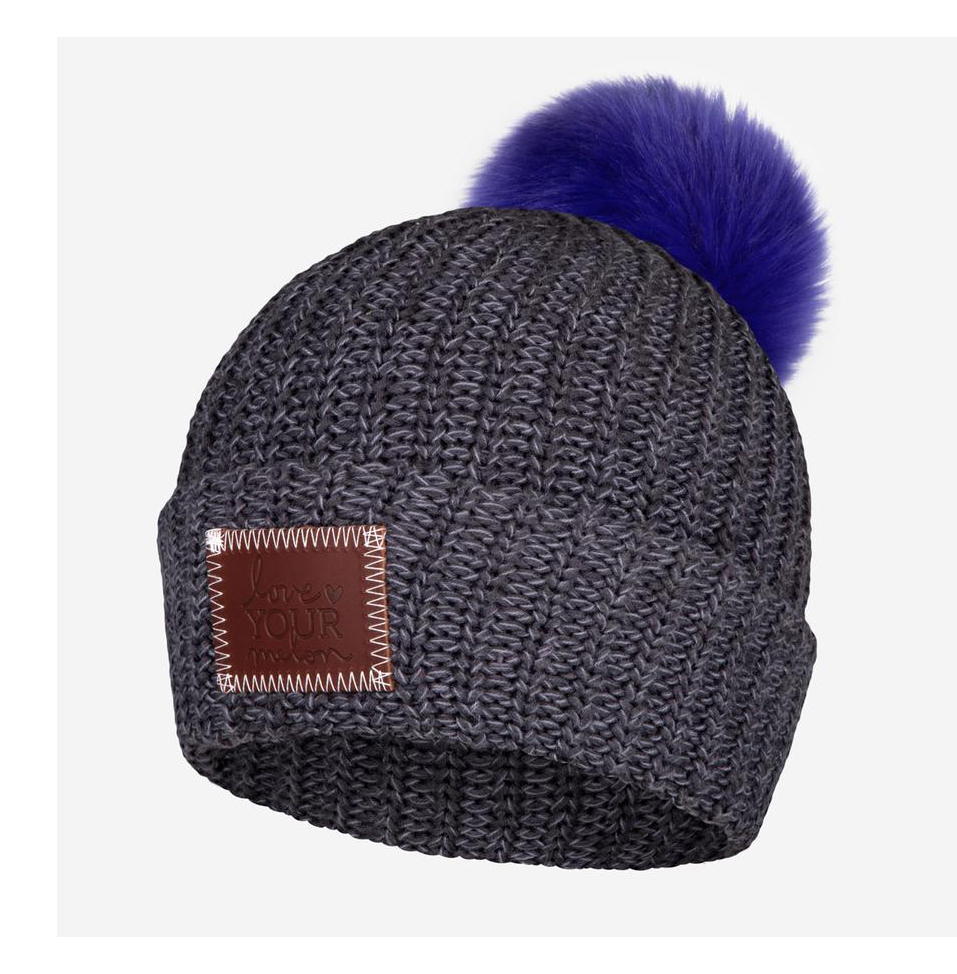 White elephant gift ideas - Love Your Melon Cozy Speckled Pom Beanie