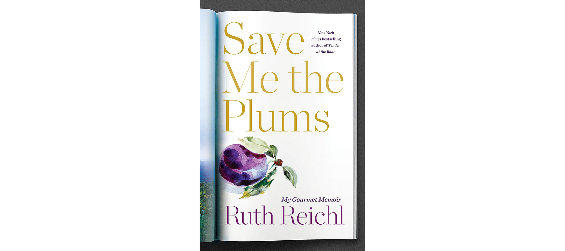 Cover of Save Me the Plums, by Ruth Reichl
