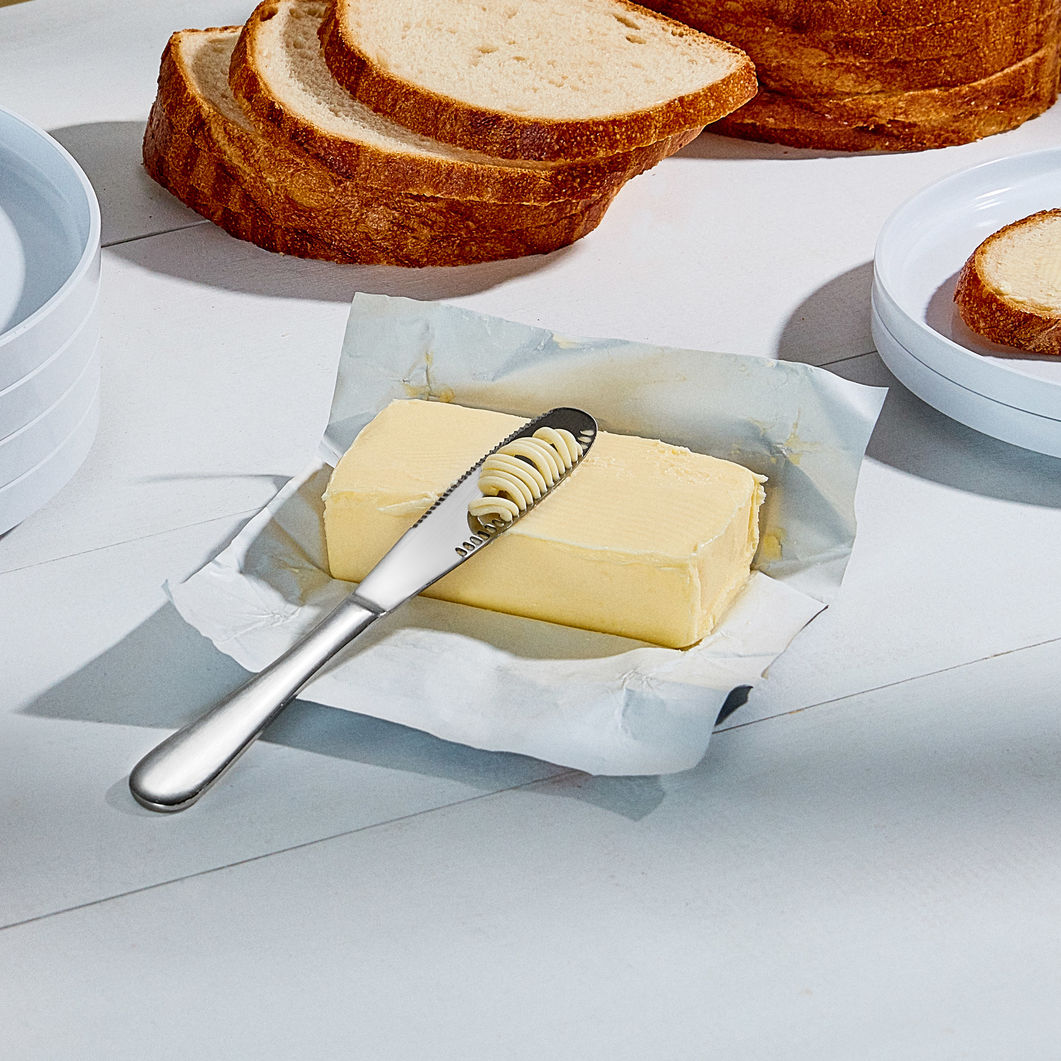 Butter Knife, Spreading Irish Butter with toast