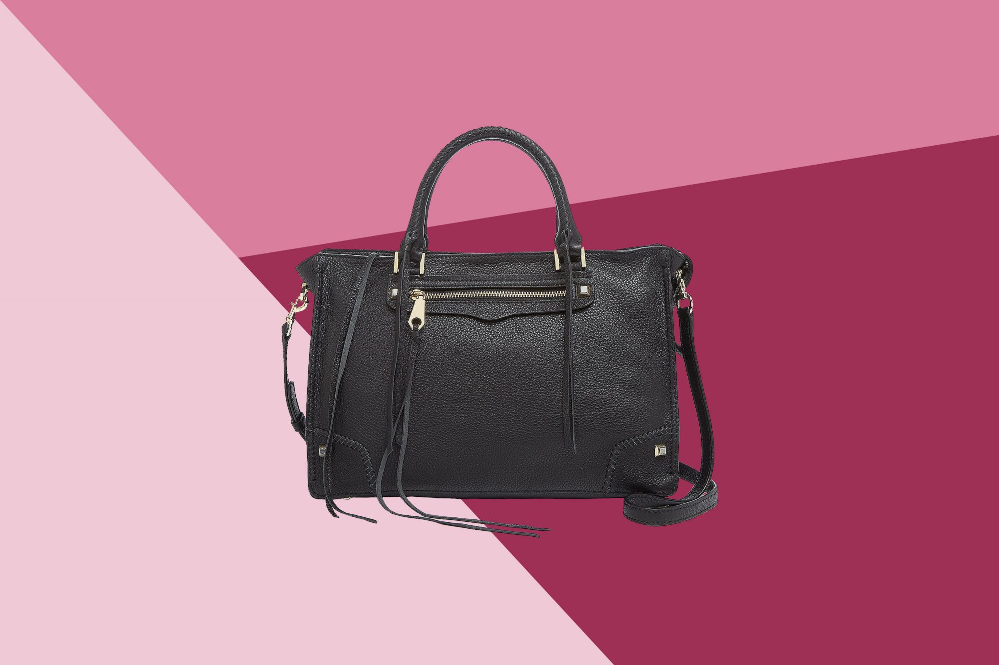 5ecf92a1be5f Shop the Rebecca Minkoff Regan Leather Satchel from Bloomingdale s ...