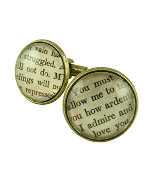 Literary Lovers Book Cufflinks