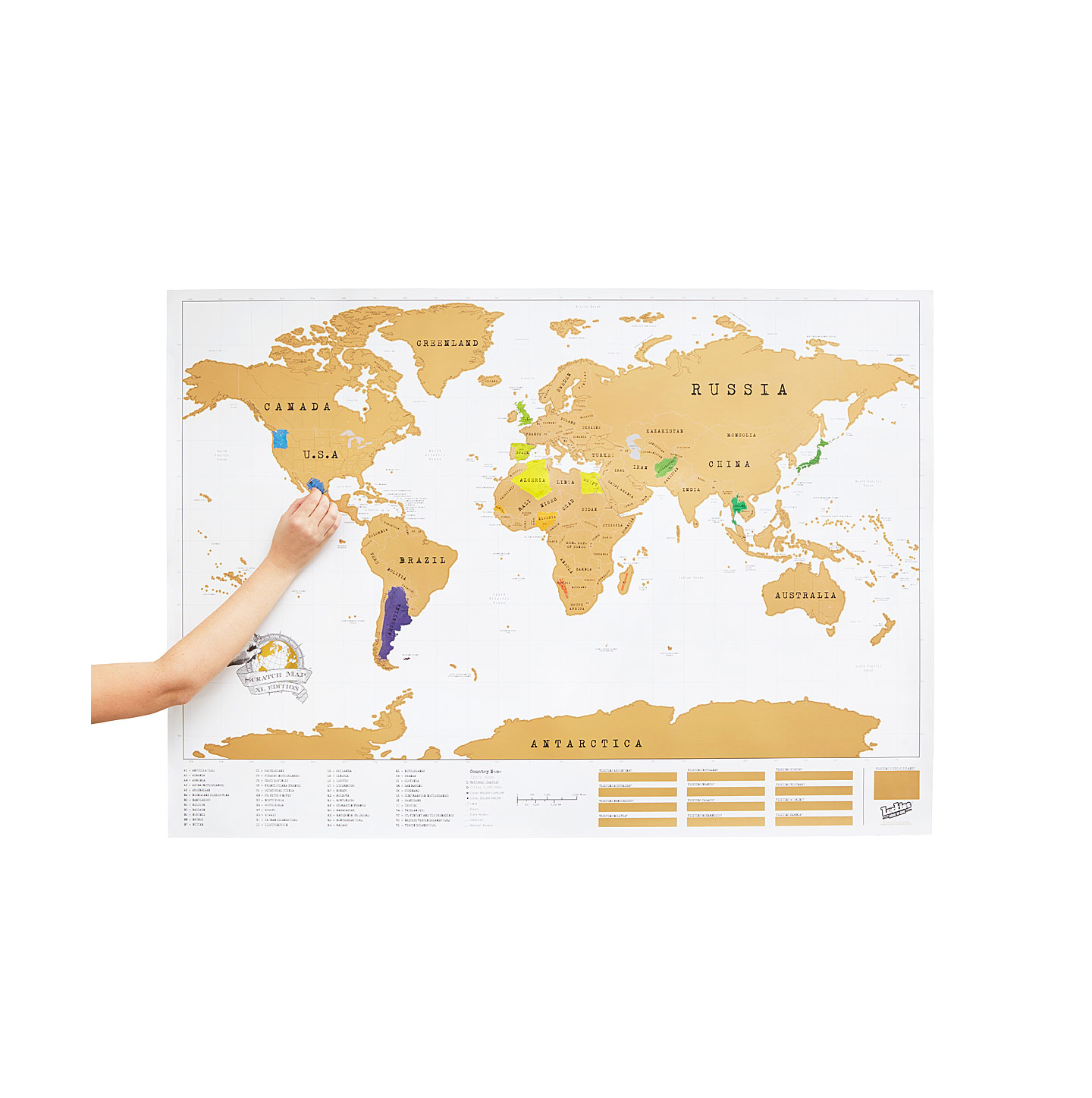 Valentines Gifts for Him: Scratch Map from Uncommon Goods
