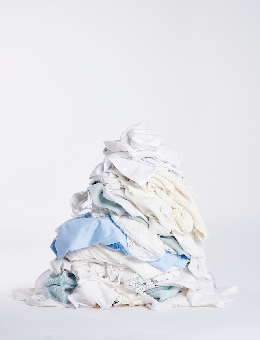 pile of clean clothes