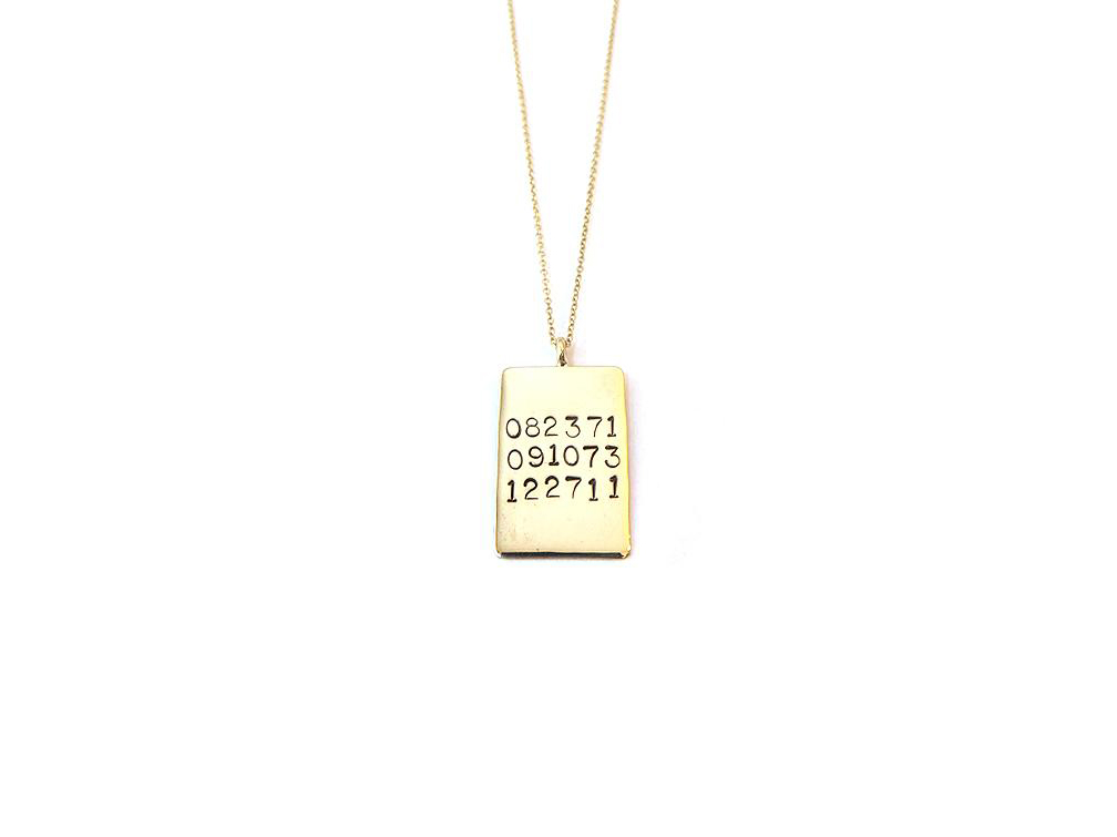 Rectangle Dates Necklace