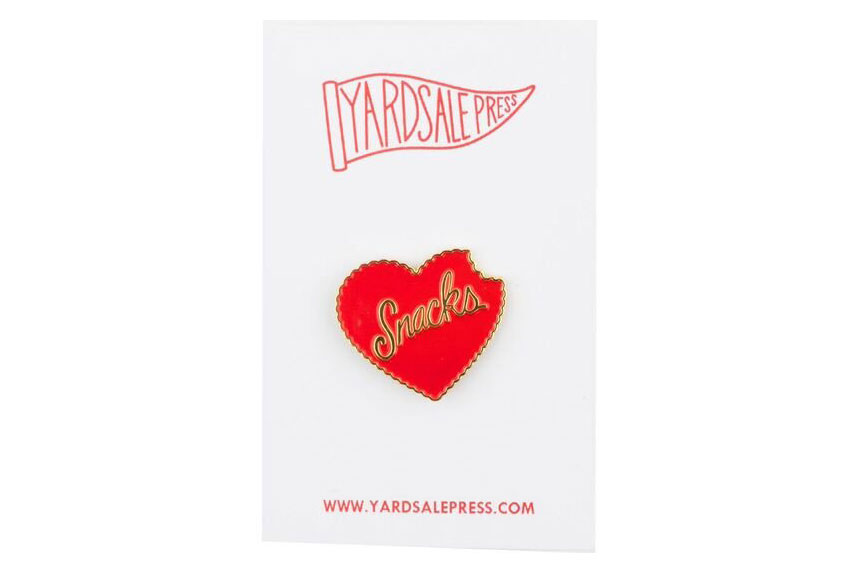 Enamel Heart Snacks Pin
