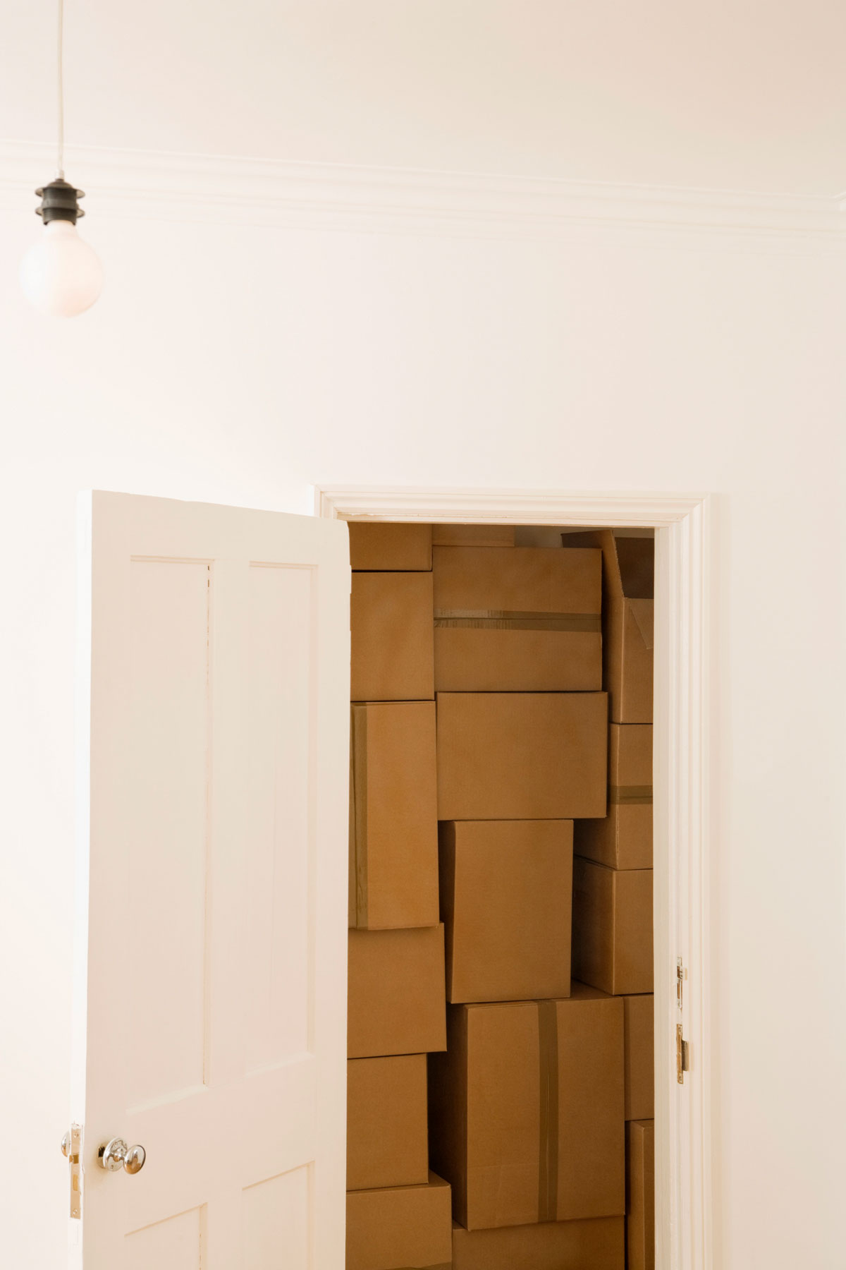 Declutter your home excuses - closet full of boxes
