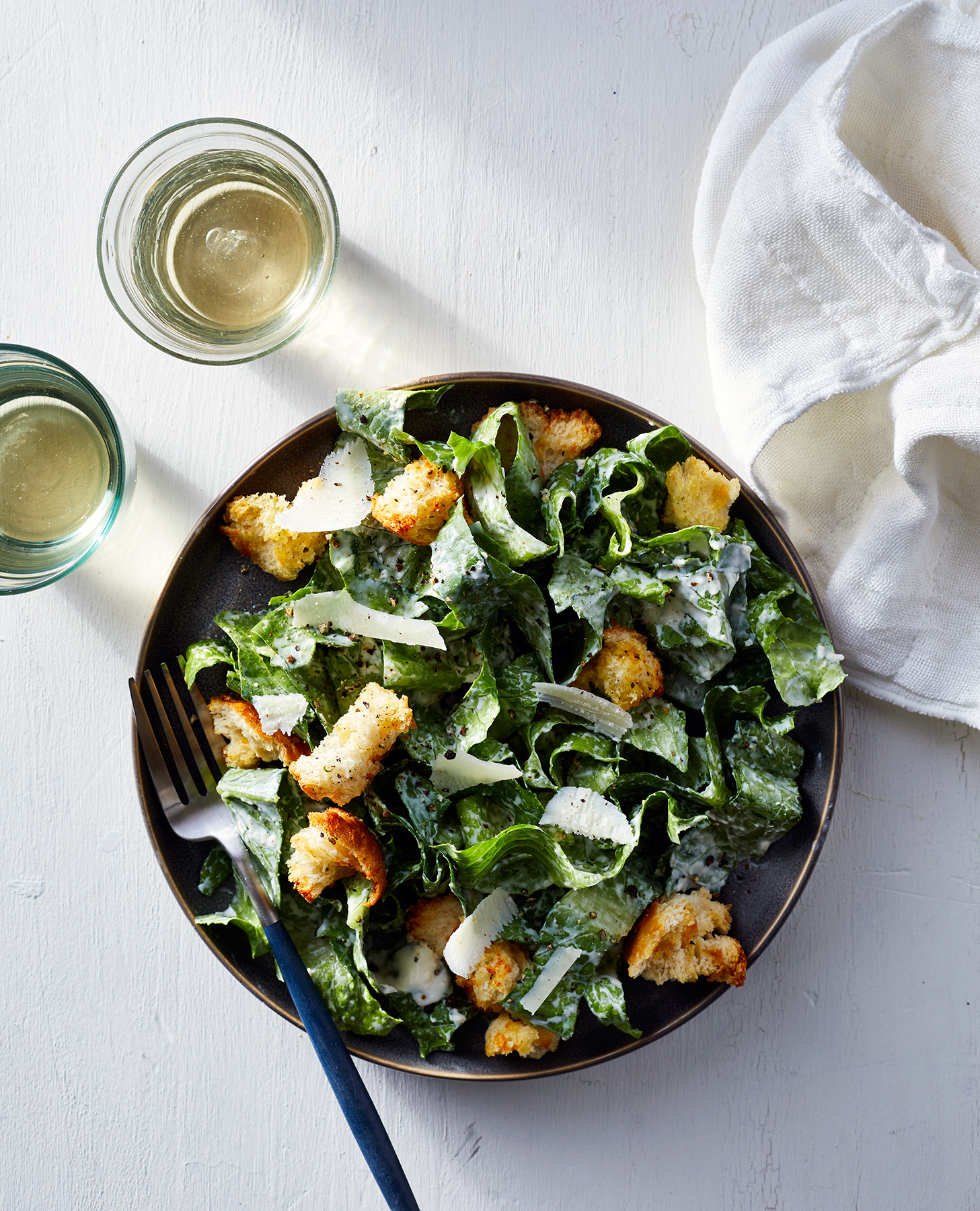 Caesar Salad With Yogurt-Parmesan Dressing