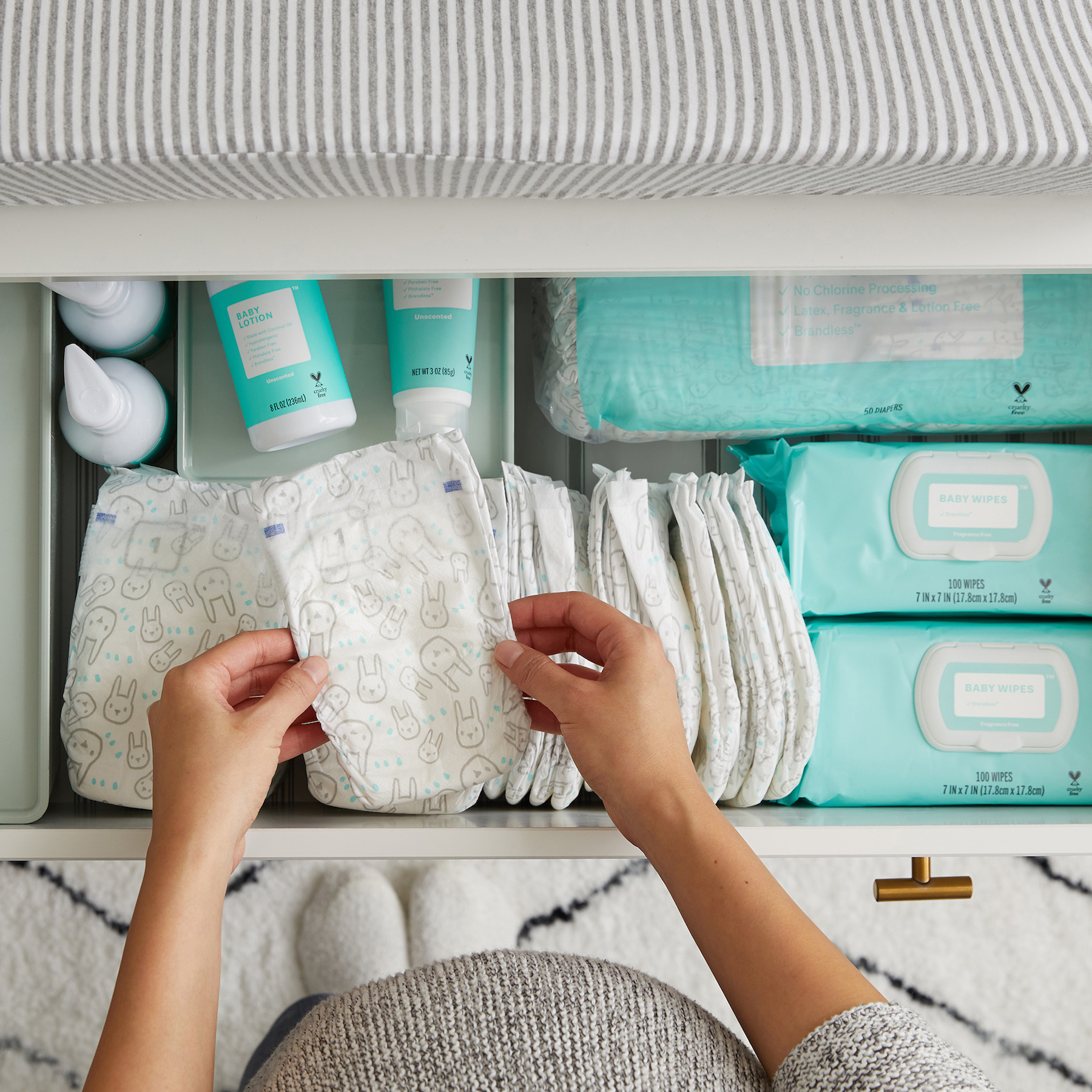 Brandless Eco Friendly Diapers in Drawer