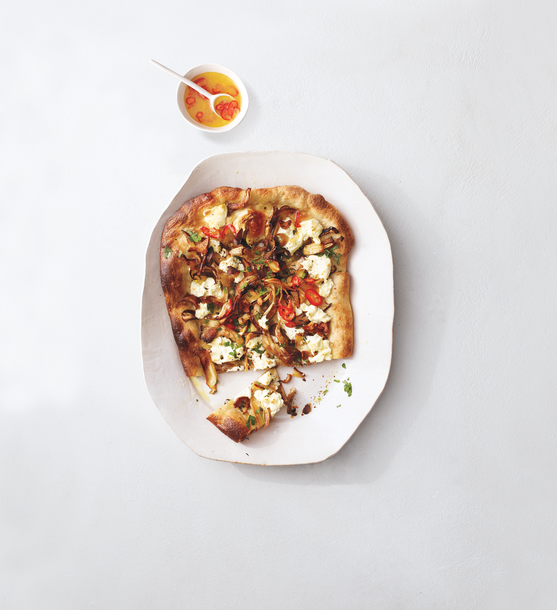 Mushroom and Goat Cheese Pizza