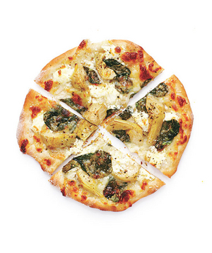 Spinach and Artichoke Pizzas