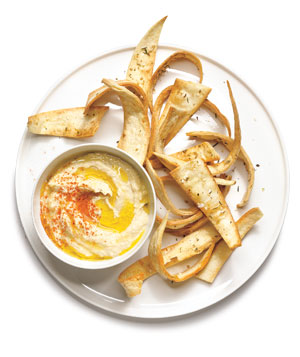 Spiced Tortilla Crisps With Hummus