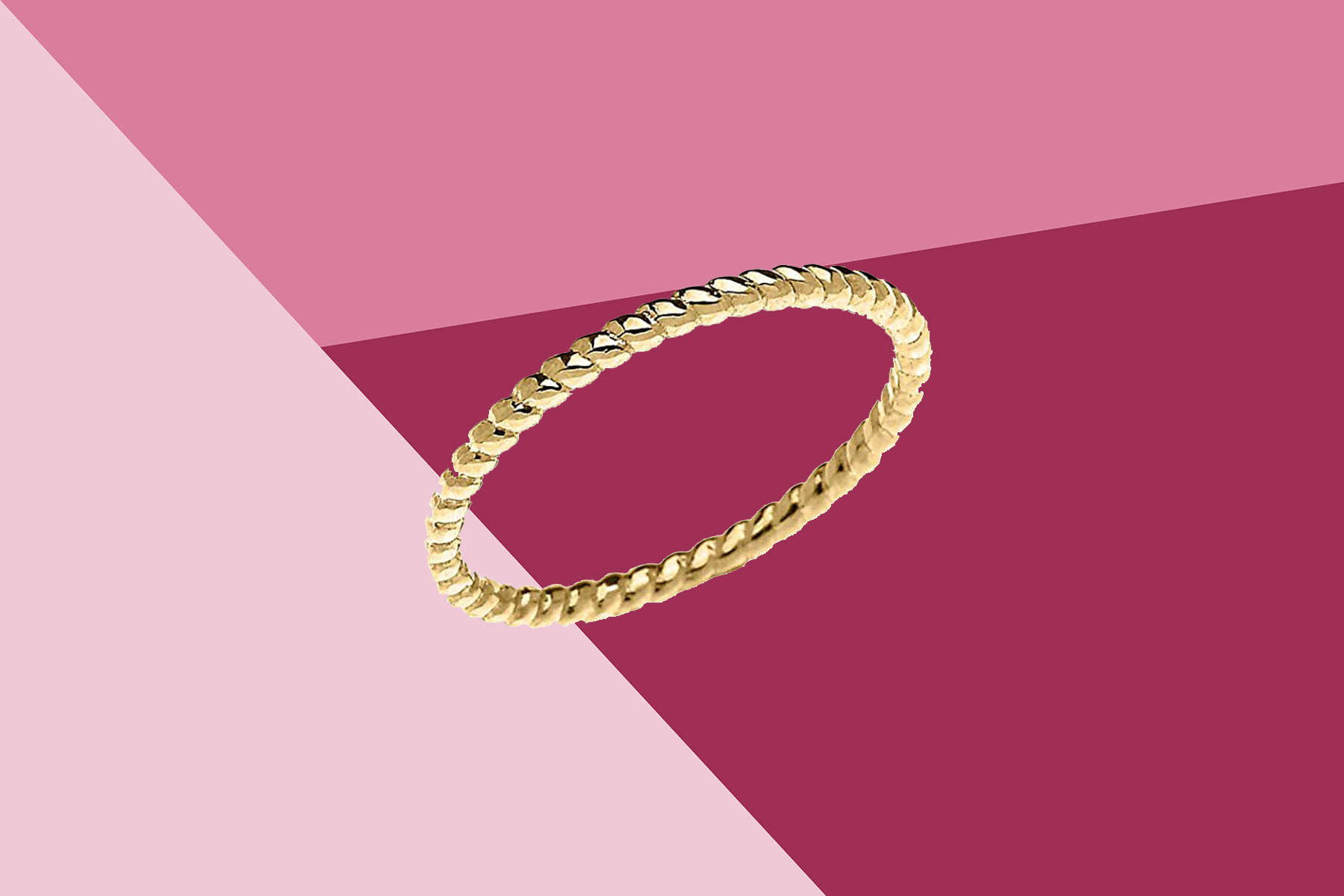 10K Yellow Gold Rope Ring