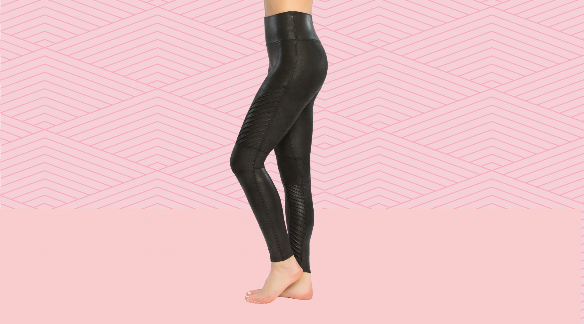 4fb65ade629f1 These SPANX Moto Leggings Are So Comfy, They're All I Wear | Real Simple
