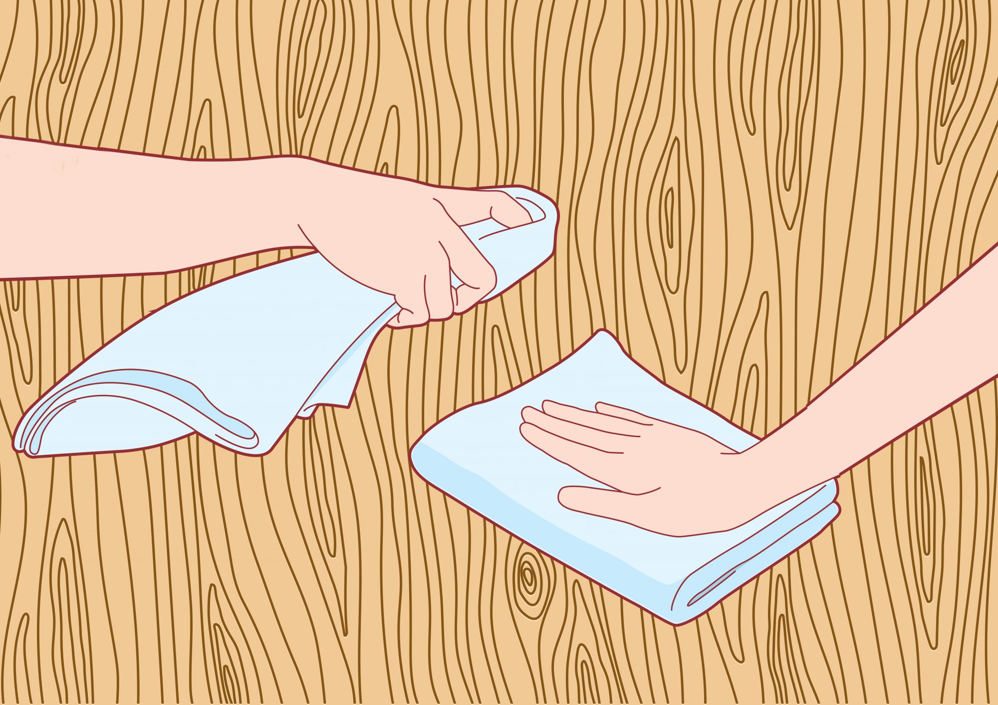 How to Clean Wood Furniture, woman wiping wood table