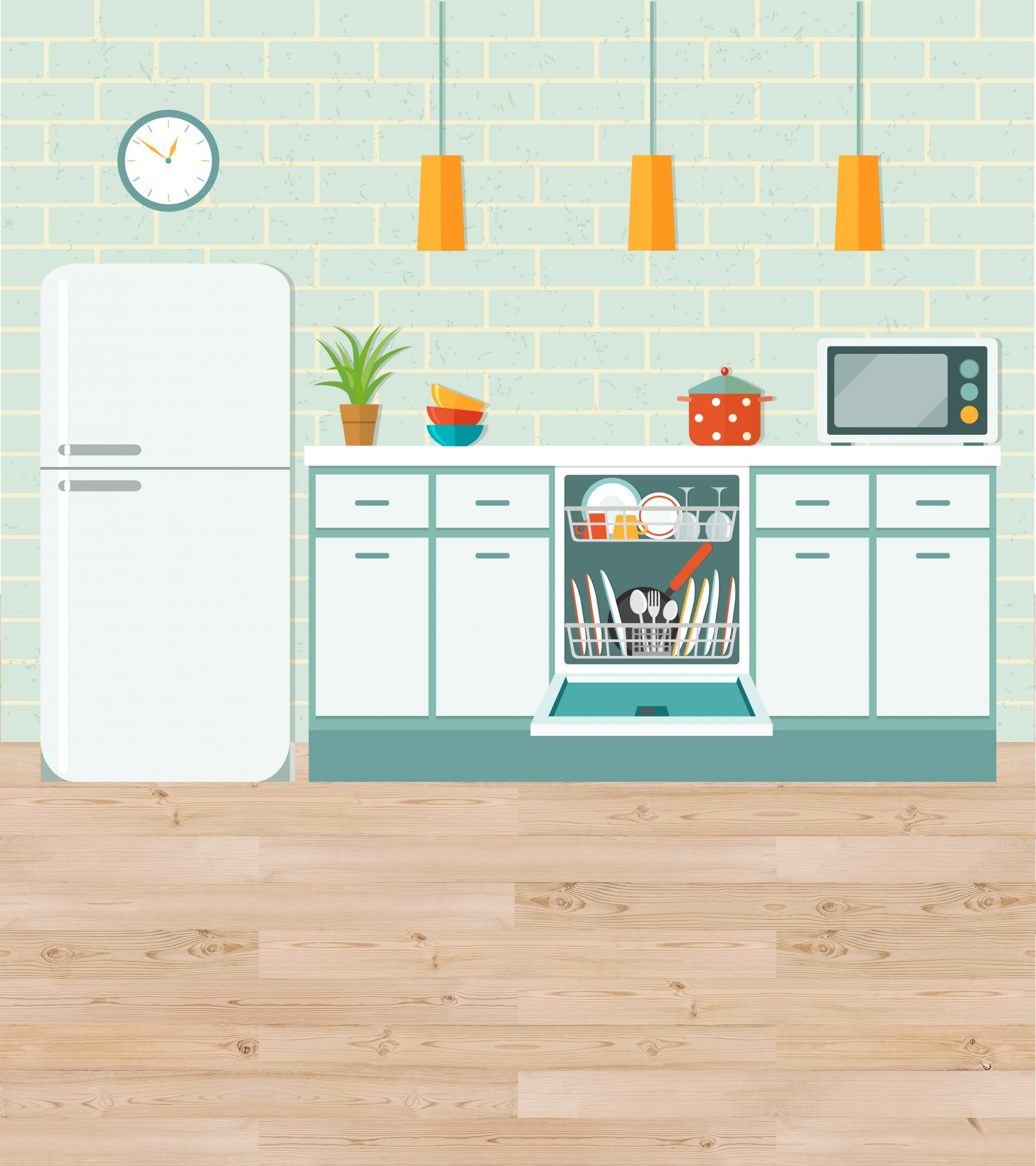 Hardwood Floors in the Kitchen Work—Here\'s Proof | Real Simple