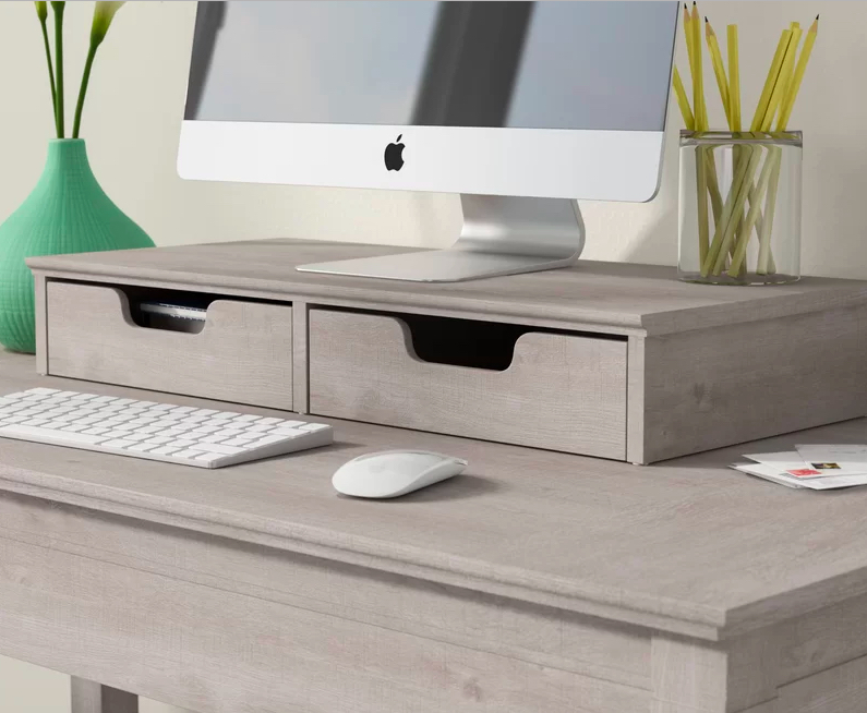 Best Desk Organizers, Monitor Stand with drawers