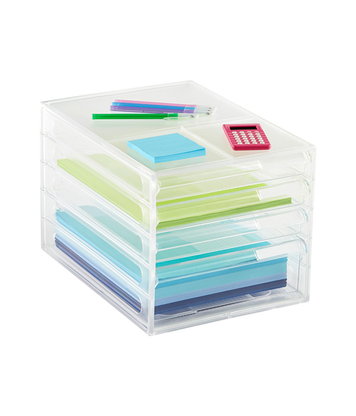 Best Desk Organizer for Papers, white stackable paper file