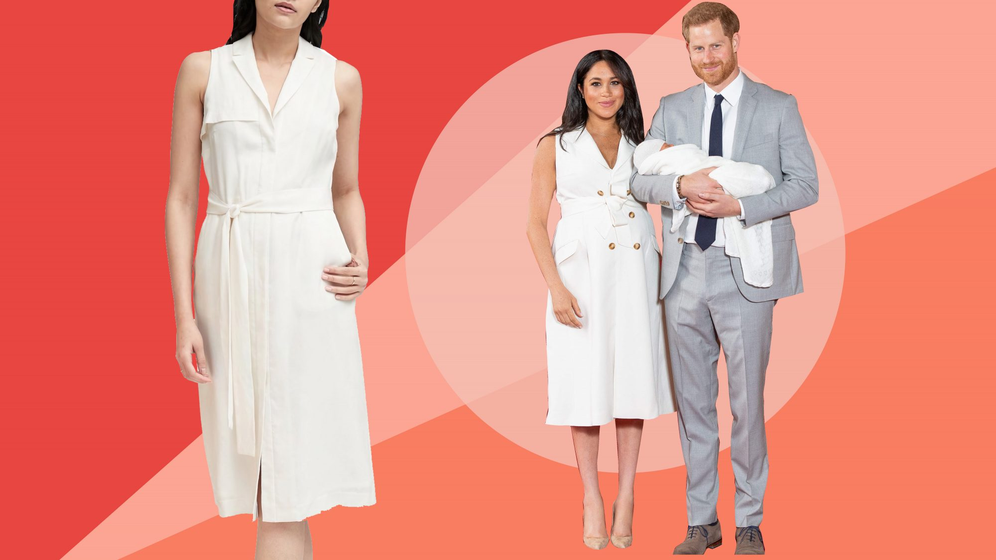 dc1e3575220 7 Sleeveless White Dresses Inspired By Meghan Markle s Latest Look