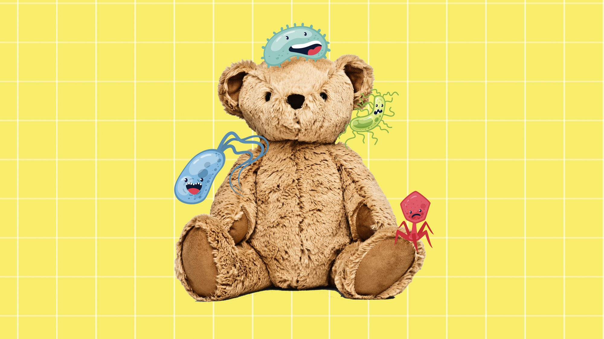 How to Clean Stuffed Animals, stuffed teddy bear with germs