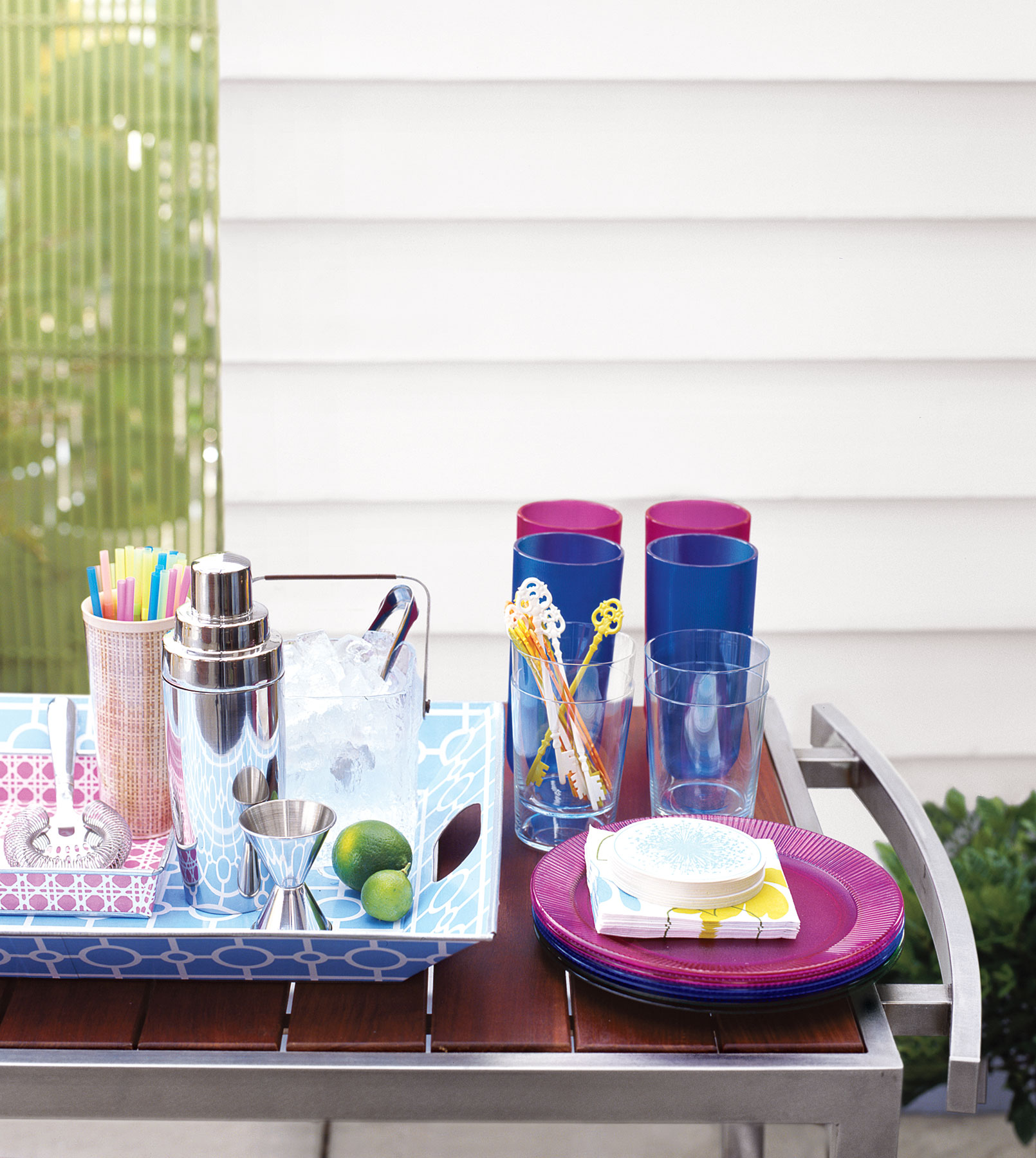 Outdoor cocktail party supplies