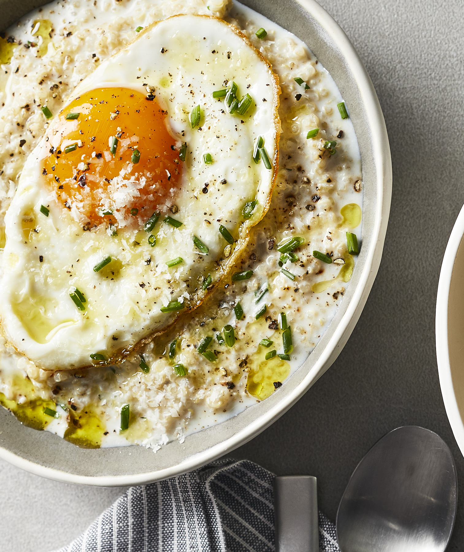 Savory Quinoa Porridge for One
