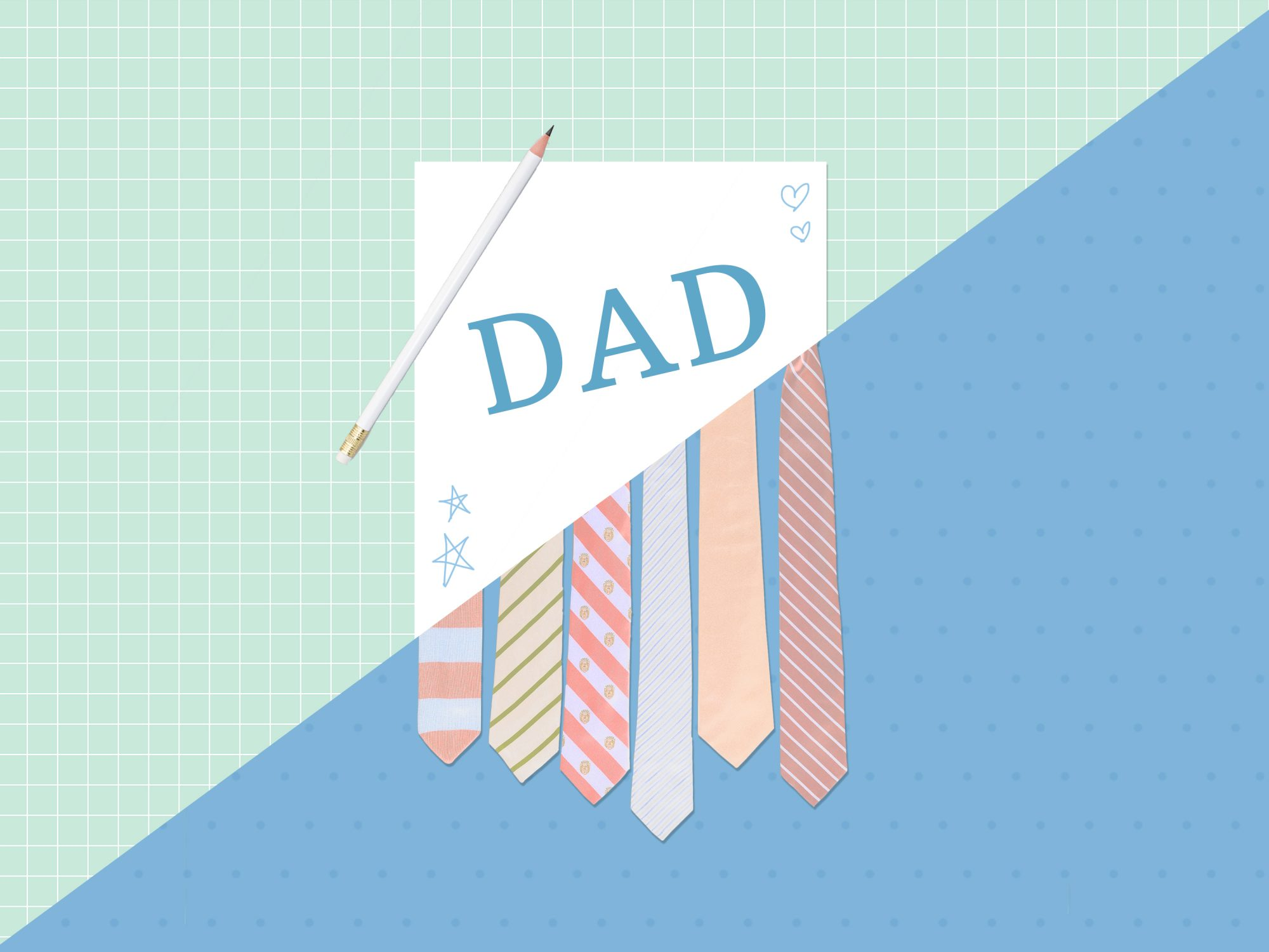 father's day quotes graphic with ties