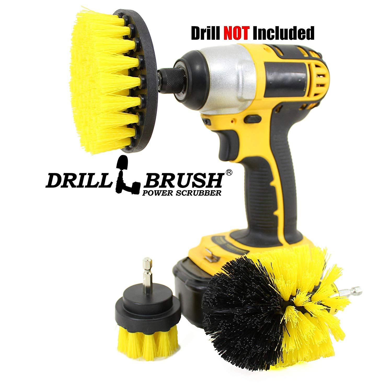 Power Scrubber Drill Cleaning Brush Embed