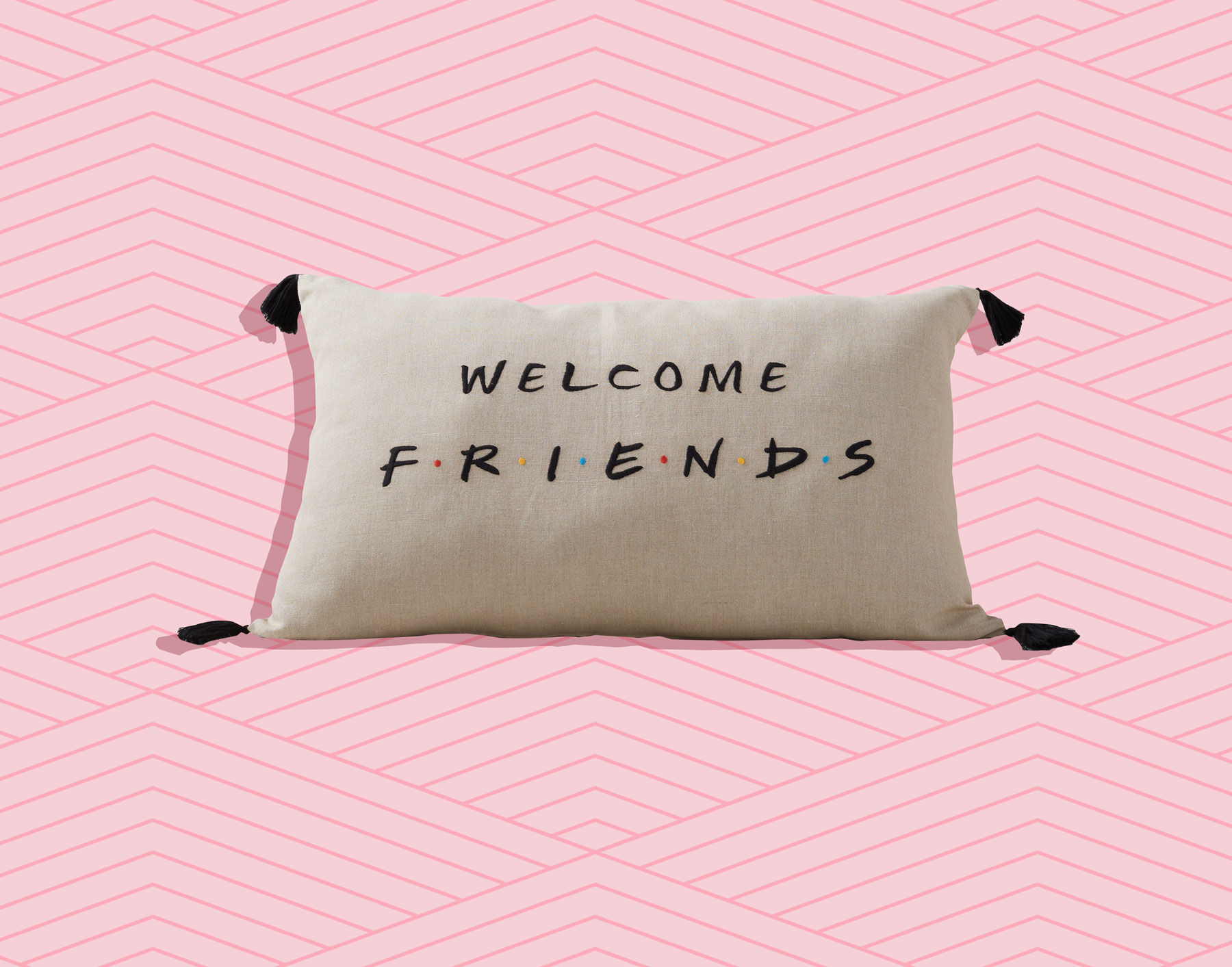 Pottery Barn x Friends collection - Welcome, Friends throw pillow